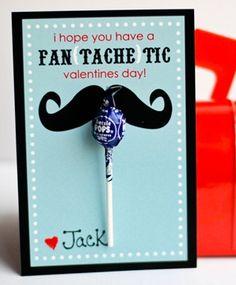 DIY Mustache Valentine's Day Card - free printable