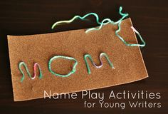 Name play activities for young writers