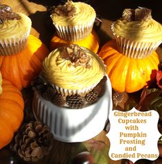 Gingerbread Pumpkin Cupcakes