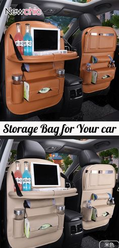 49% OFF #Leather Car Seat #Storage Hanging Bag Multi-Function Bag #newcar