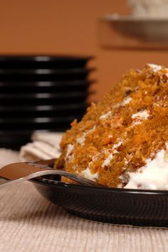 Delicious Carrot Cake #Recipe/// SO good! and i only used half the sugar in the frosting because that was all i had. food network, carrot cakes, brown sugar, delici carrot, cake desserts, carrot cake recipes, fall dessert recipes, fall desserts, birthday cakes
