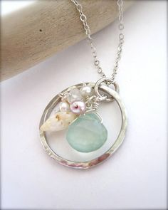 Hawaiian shell eternity necklace  by Tidepools Jewelry