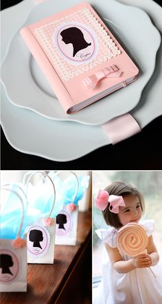 Pretty In Pink – A Girl's Monogram and Silhouette Birthday Tea Party