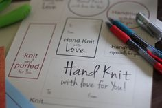 Free Gift Tags for Hand Knits