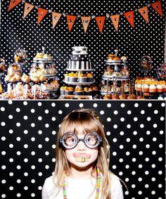 Polka Dot Halloween party. Cute idea for photo booth