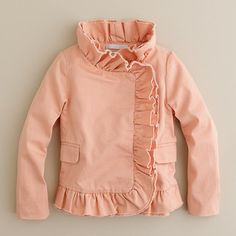 jacket, girl clothing, little girls, kids clothes, ruffl, j crew, kids fashion, baby girls, coat