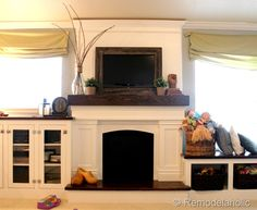 remodelholic,  framing a mounted TV,  i agree do something to make the TV not so TV