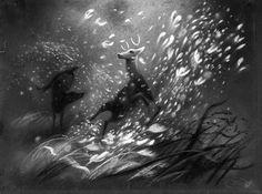 Bambi concept art - Tyrus Wong