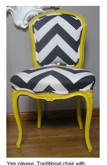 cute upholstered chair!