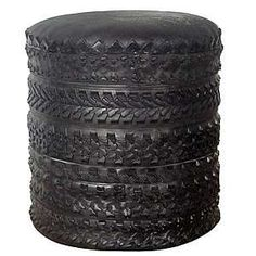 Furniture From Old Tires - Repurposed Rubber Makes Posh Poufs