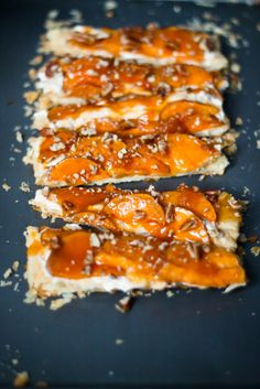 Butternut squash glazed tart