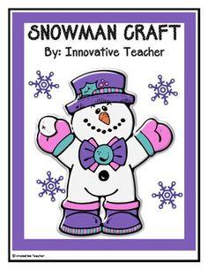 Snowman Craft Instructional Guide {FREEBIE} snowman crafts