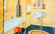 40s bathroom