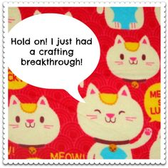 Have you had a #crafting breakthrough? :) #PinPals Snuggle flannel fabric: http://www.joann.com/snuggle-flannel-fabric-meow-so-lky/zprd_11766300a/