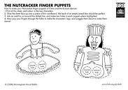 Nutcracker finger puppets printable templates - {Birmingham Royal Ballet}