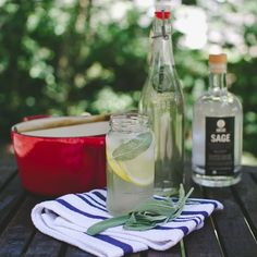Simple SAGE Spritzer cocktail