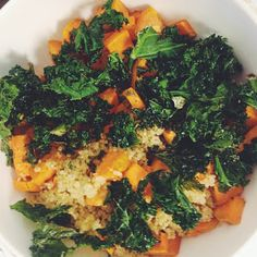 roasted sweet potato & kale quinoa...one simple dish with some of the healthiest foods in the world!