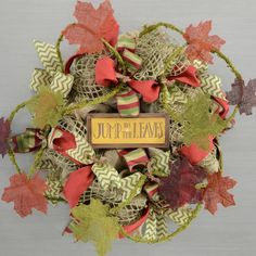 Jump in the Leaves Wreath Video Tutorial