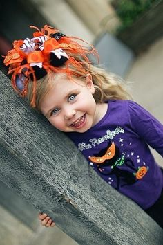 adorable halloween over the top bow !