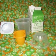 Recycle Food Containers to Make Candle Molds