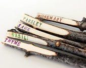 Twig Plant Markers - Rustic Garden Markers - Herb Markers - set of 5