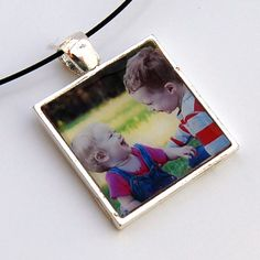 Great gift idea for moms, grandmothers, and pet owners. Photo pendant by K L Hood. Children's photo by Kristina Mosley Photography.