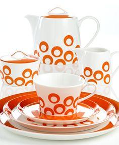 Circle Chic Orange Dinnerware by Mikasa #Dinnerware #Mikasa