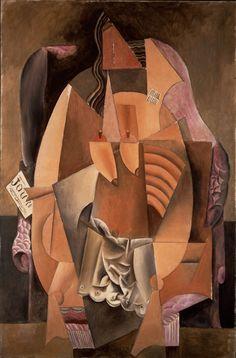 """Leonard A. Lauder cubista Collection en audio e imágenes - Función Multimedia - NYTimes.com """"MUJER EN UN SILLÓN (EVA)"""" Pablo Picasso, 1913 En el cubismo sintético el artista tomó planos abstractos de colores y les construyó hacia una representación."""