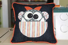 Tooth Monster Pillow ~ Sew Much 2 Luv