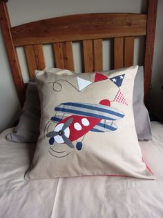 50 x 50cm Scatter with Aeroplane applique