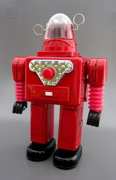 DAIBLO ROBBY battery operated tin toy Robot | Vintage and Retro Space Age Raygun, Rocket and Robot Toys | Sugary.Sweet | #SpaceAge #Toy #Robot #SciFi