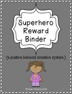 Superhero Reward Binder (Positive Behavior Incentive Program)