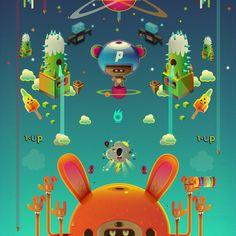 434/cube/deity/-death sequence_24 in orange by jonathan ball, via Behance