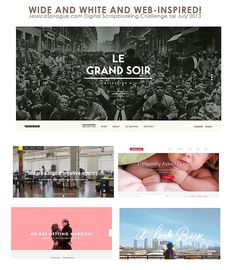 JULY CHALLENGE - Wide  White  Web-Inspired! - JessicaSprague.com Message Boards