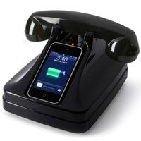 Amazon.com: I Retrofone/Charger For IPhone With Bluetooth Black: Cell Phones & Accessories