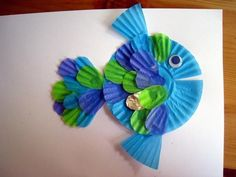 Cupcake Liner Fish - Easy Crafts