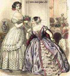 Ball Dresses, February 1852