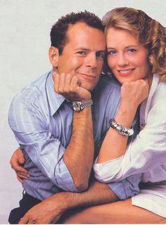 """Bruce Willis and Cybill Shepherd in """"Moonlighting""""."""