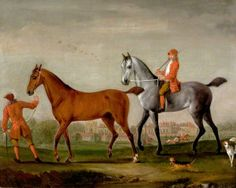 Two Racehorses with