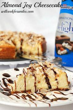 Almond Joy Cheesecake by willcookforsmiles.com