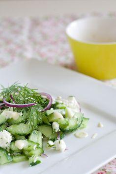 Feta cucumber salad...