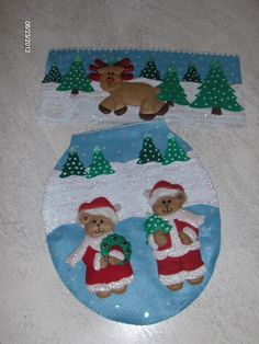Merry Christmas with this felt ornaments