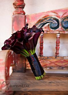 #Black calla #lily #bouquet