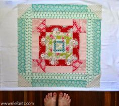 """What a big Churn Dash! Finished, it measured 24.5"""" square."""