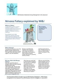 A cool in-class exercise for pupils and students from all over the world to understand management thinking mistakes. Fallacies and Biases. explains: What is a 'fallacy', what is the Nirvana Fallacy? The math behind the fallacy, What does that mean for Decisions and Actions in Life? Questions to discuss and tasks to do