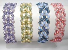 FREE PATTERN! Beaded Birthday Bracelet Pattern by Deborah Roberti at Sova-Enterprises.com