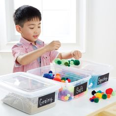 Sensory Station -  Encourage a child's natural exploration with weekly sensory stations.