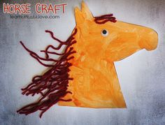 Printable Horse Craft from http://learncreatelove.com
