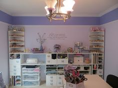 #papercraft #craftroom. Tiny Treasures: Scrapbook Room