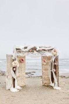 beach weddings, beach wedding ceremony arch